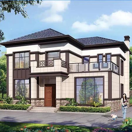 北川中式自建轻钢别墅