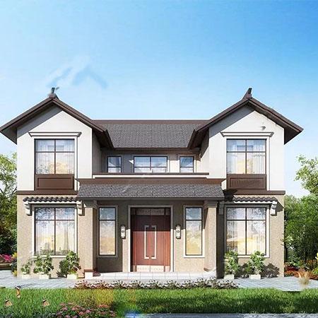 中式农村轻钢别墅