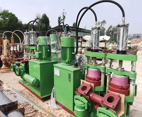 泥浆泵安装现场
