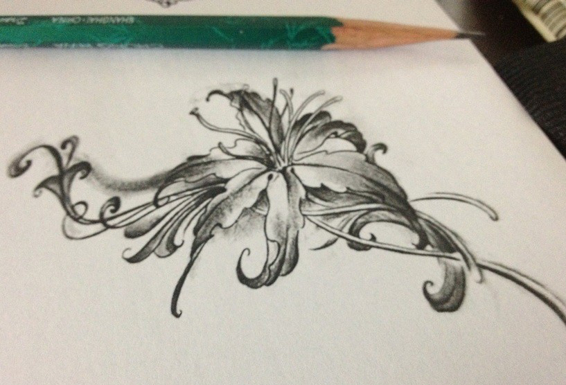 传说在很久很久以前,城市的边缘开满了大片大片的彼岸花,也就是曼珠沙华。它的花香有一种魔力,可以让人想起自己前世的事情。守护彼岸花的是两个妖精,一个花妖叫曼珠,一个是叶妖叫沙华。他们守候了几千年的彼岸花,可是从来没有见过面,因为花开的时候,就没有叶子,有叶子的时候没有花。他们疯狂地想念着彼此,并被这种痛苦折磨着。终于有一天,他们决定违背神的规定偷偷地见一次面。那一年的曼珠沙华红艳艳的花被惹眼的绿色衬托着,开得格外妖冶美丽。神怪罪下来,这也是意料之中的。曼珠和沙华被打入轮回,并被诅咒永远也不能在一起,生