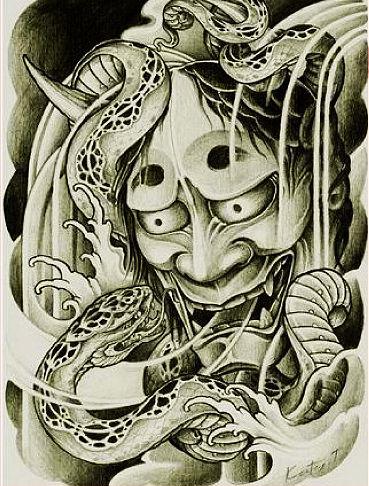 日本般若纹身的讲究及寓意—南京专业纹身师设计师室-m字纹身内容图图片