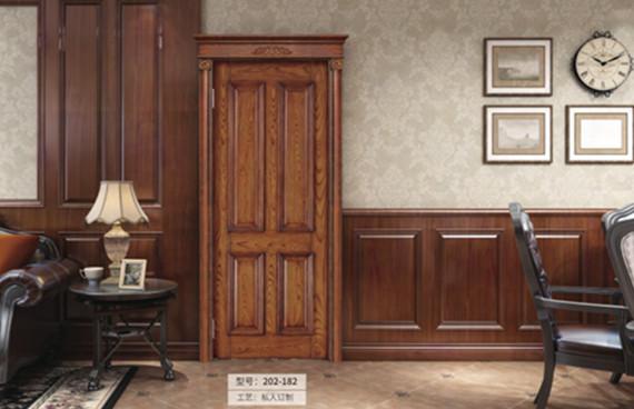 重庆经典深色室内门安装