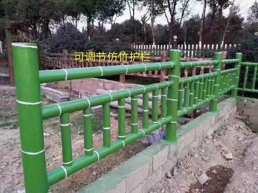 绿色的水泥围栏
