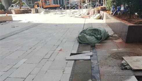 室外道路缝隙式排水沟施工