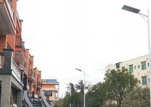 別墅區選擇漢陽光能科技安裝光能路燈!