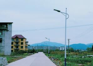 萬安村道照明工程選擇光能路燈!