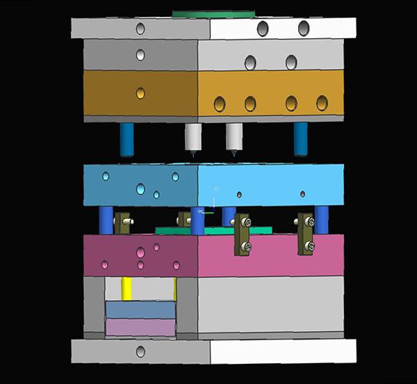 注塑模具-冷流道模具-模型图