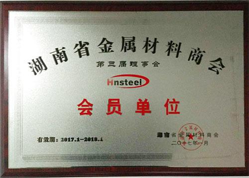 湖南省金属材料商会理事单位