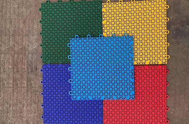 圆扣塑料悬浮拼装地板