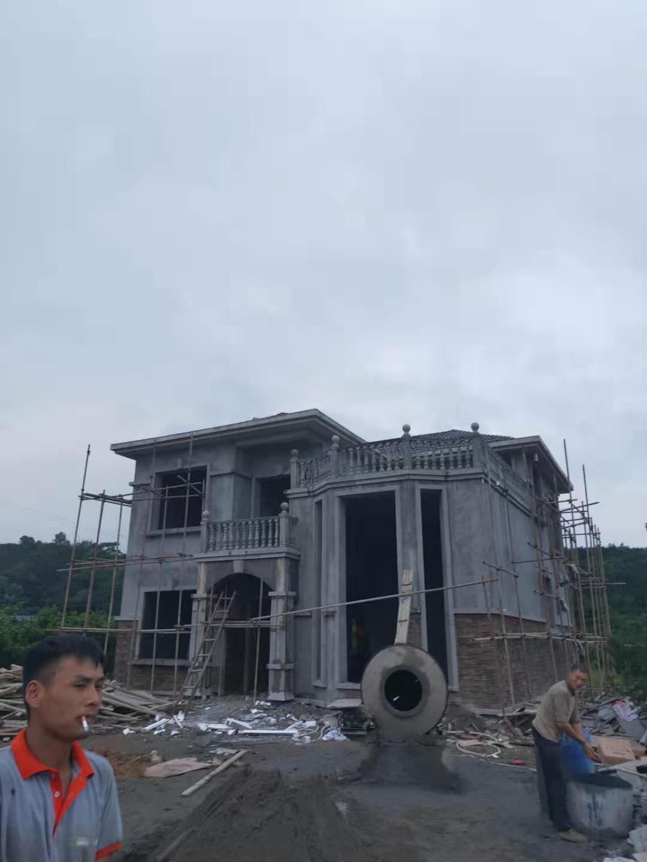 四川GRC构件线条案例:眉山市秦家镇别墅