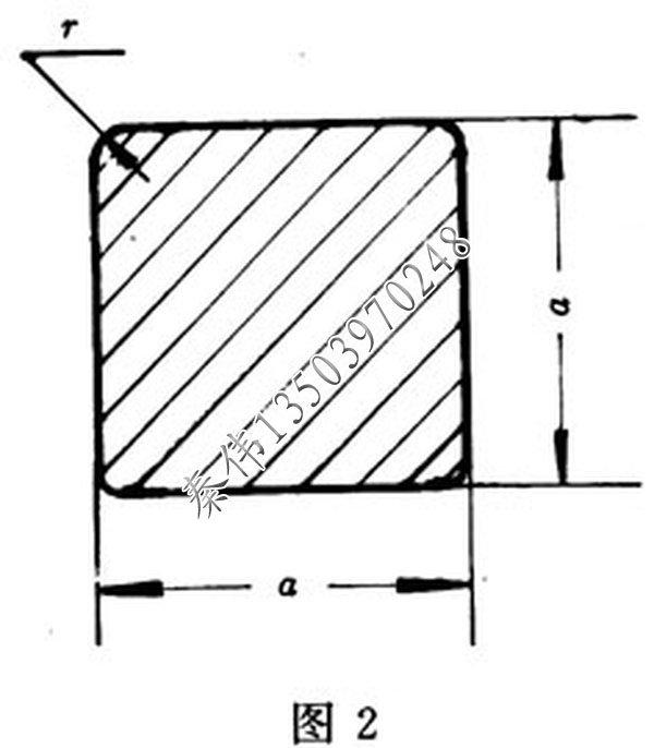 方钢截面图