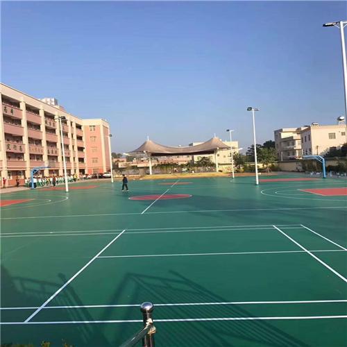 贵州硅PU篮球场施工