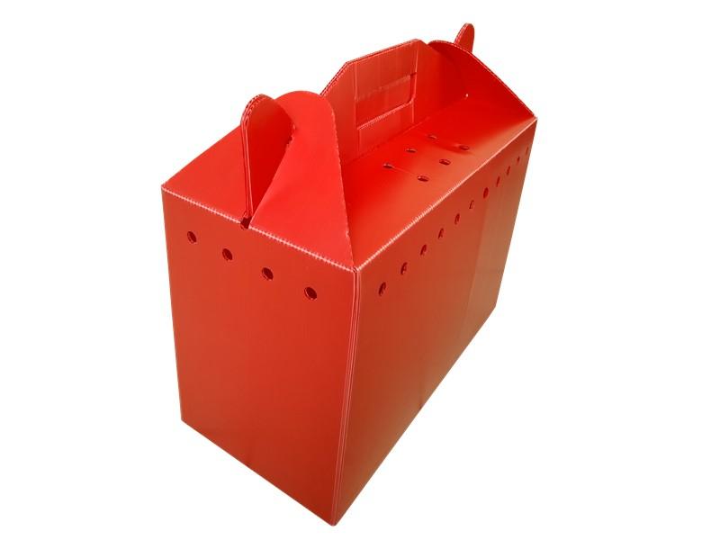 济南彩色中空板塑料箱