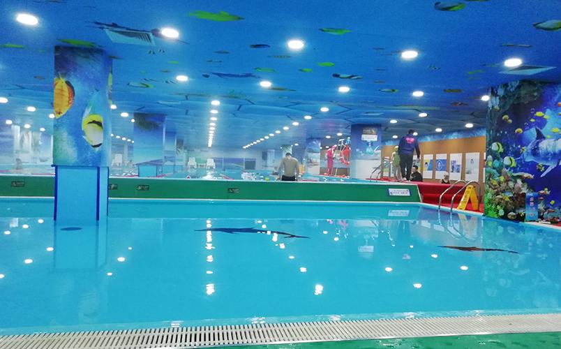 潍坊学院游泳池工程现场图
