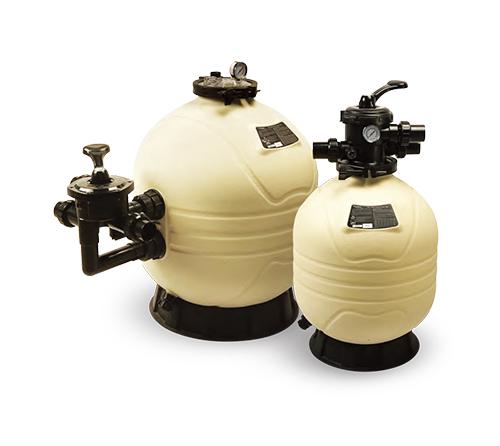 传统泳池水处理设备一般采用沙滤进行过滤,单层或多层滤料过滤