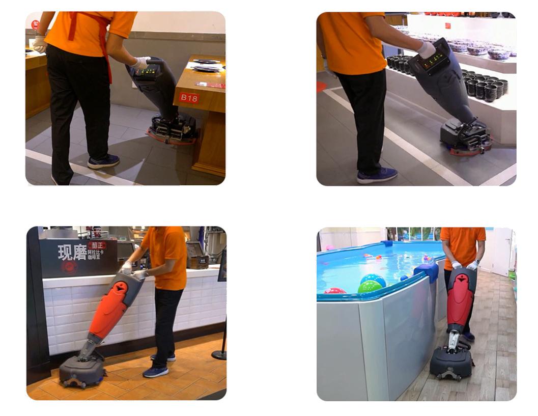 手推式洗地机案例