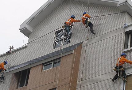 青岛外墙维修案例