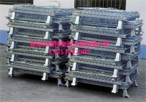 青岛仓储笼发货快,客户采购300个标准笼子