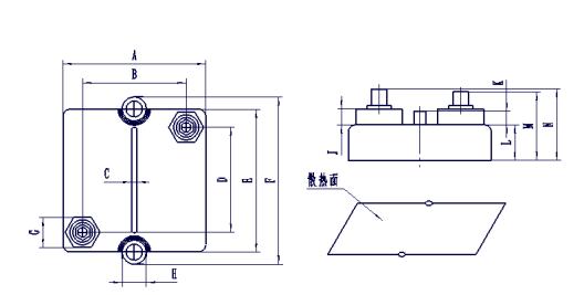 高功率无感膜块电阻器外形图