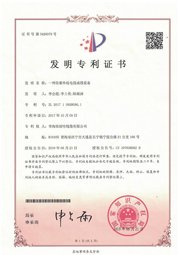 发明专利证书2