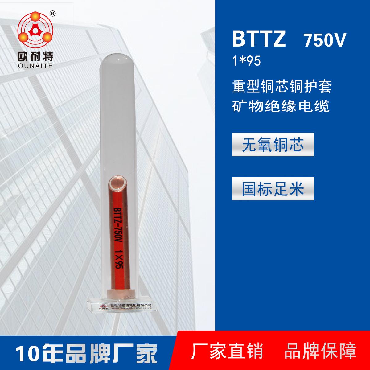 矿物绝缘电缆BTTZ 750V 1*95