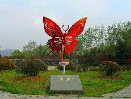 蝴蝶雕塑灯