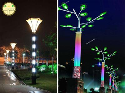 青海景观灯庭院设计