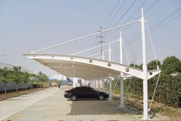 西宁膜结构停车棚施工