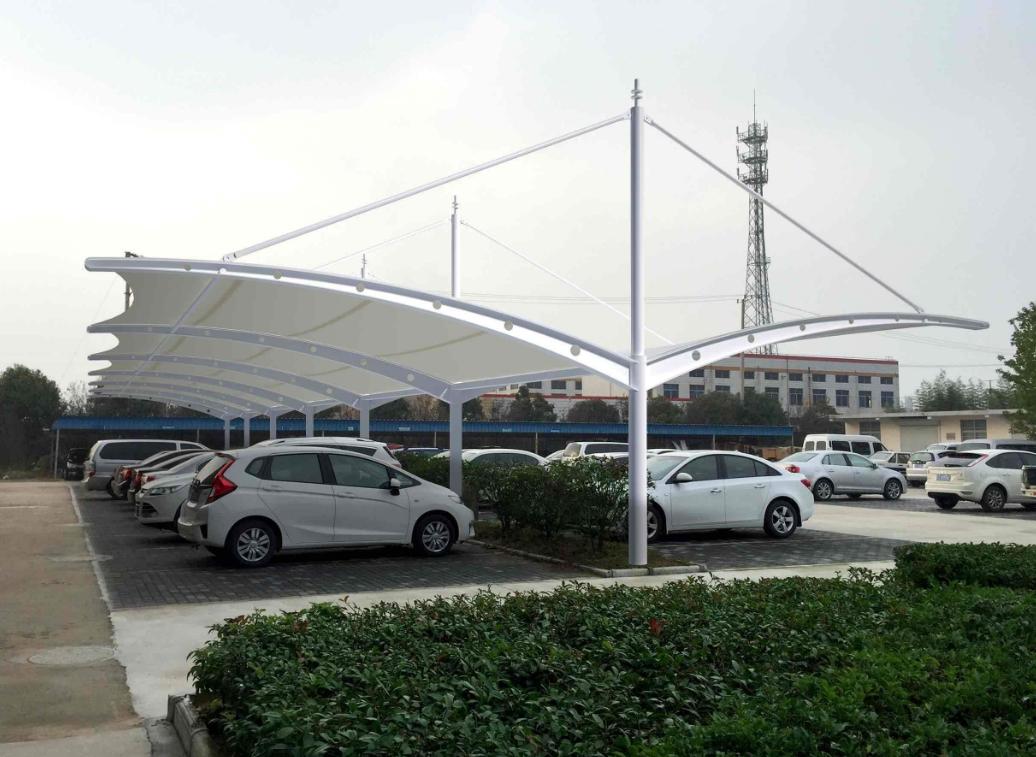 西藏膜结构停车棚安装