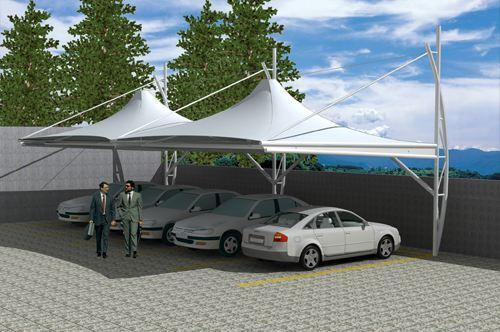 青海膜结构停车棚施工