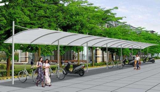 青海膜结构自行车棚厂家