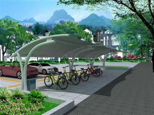 西宁膜结构自行车棚建筑