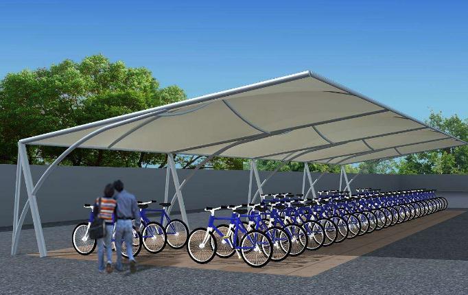 西宁膜结构自行车棚厂家
