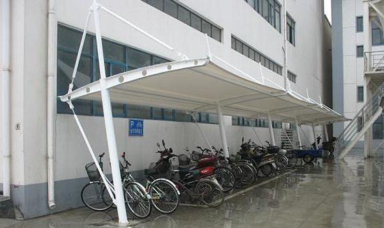 西藏膜结构自行车棚工程