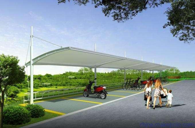 西藏膜结构自行车棚生产厂家