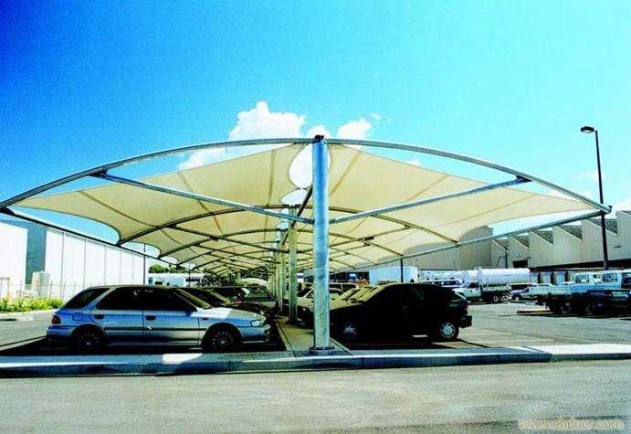 青海膜结构停车场工程
