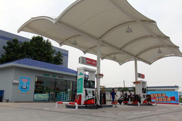 西宁膜结构加油站工程
