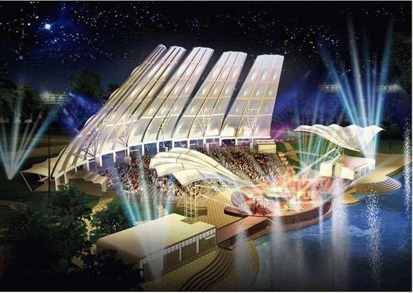 西藏膜结构舞台