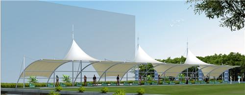 青海膜结构观球台