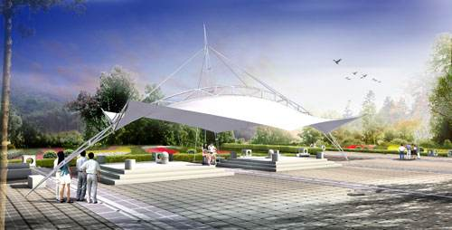 青海广场膜结构