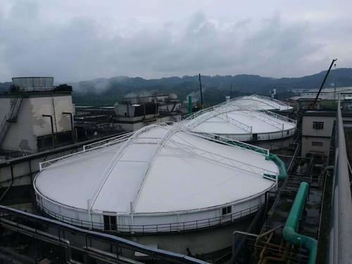 膜结构污水池施工
