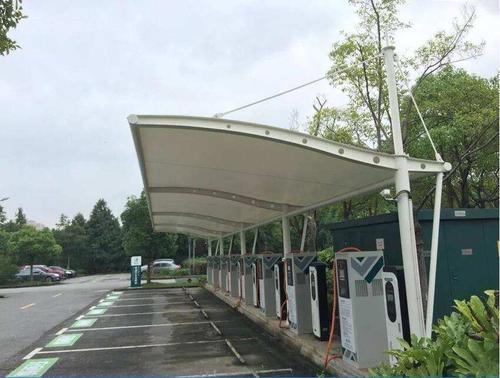 膜结构充电桩雨棚
