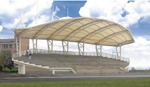 足球场膜结构看台