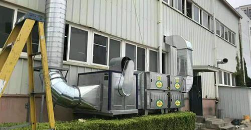包装公司废气处理设备安装