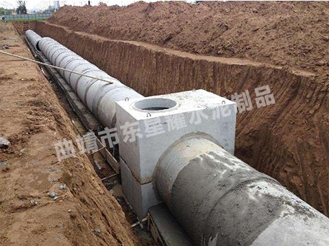 混凝土排水管铺设样式