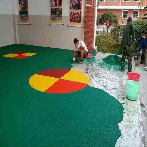 成都儿童塑胶场地铺设
