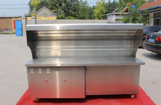 厂家应对无烟净化烧烤车的油烟管道定时清洗