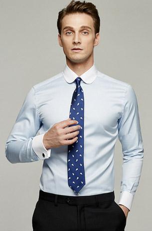 男士拼色衬衫系列