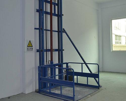 單缸單臂導軌式液壓升降貨梯