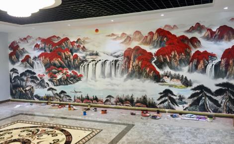 无锡墙体彩绘公司给客户绘画用什么特殊颜料效果比较好